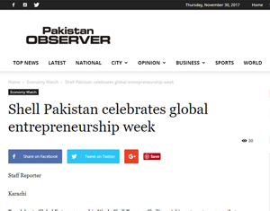Shell Pakistan celebrates global entrepreneurship week