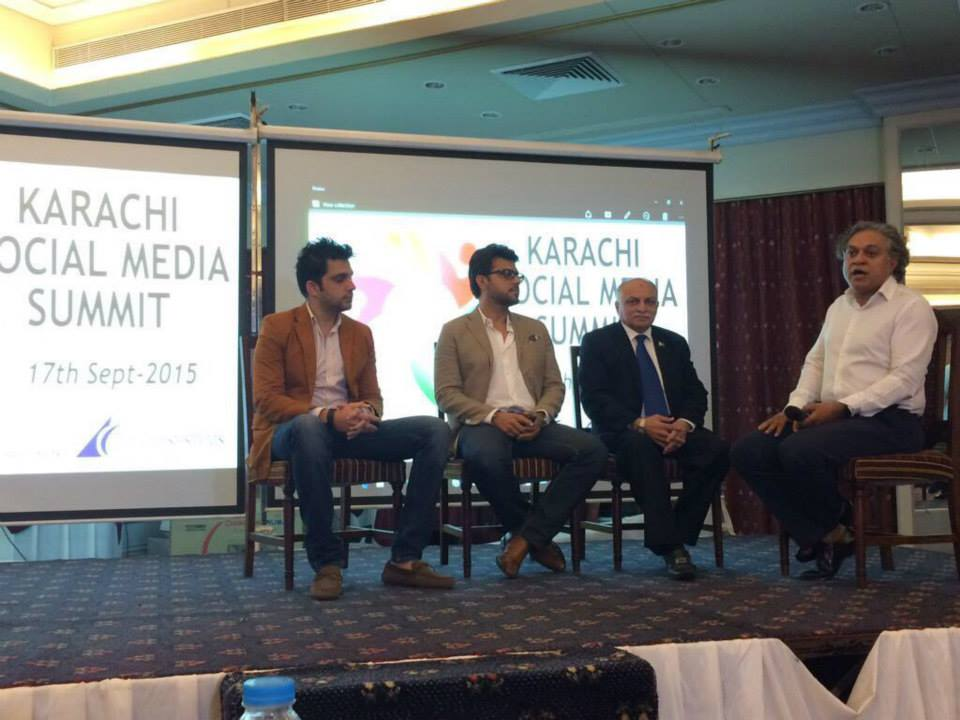 Panel discussion at Karachi Social Media Summit