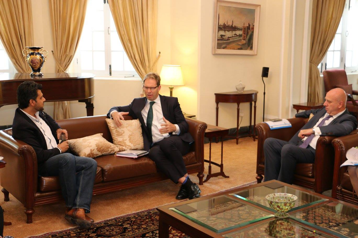 Mr. Tobias Ellwood - British Minister for Pakistan meets Faraz Khan at his recent visit to Pakistan