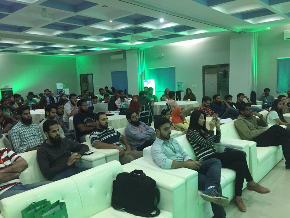 At the Startup Weekend Karachi with fellow Judges; Organizers and Keynote Speaker US Consul General Grace Shelton in Karachi.