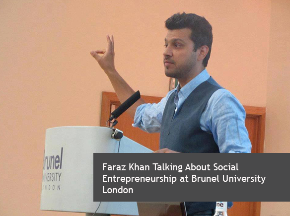 Faraz Khan Talking About Social Entrepreneurship at Brunel University London