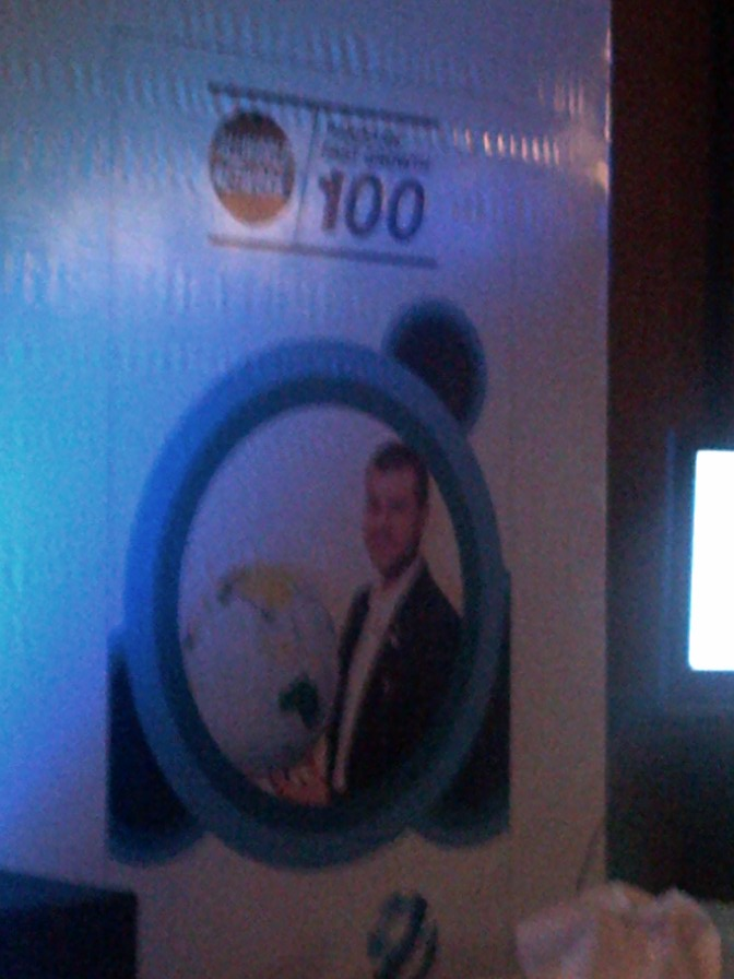Winning Arabia Top 500 Company Award on behalf of Gizelle Communications Pvt. Ltd. - A SEED Venture Company