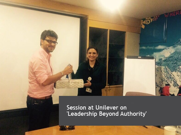 Session at Unilever on 'Leadership Beyond Authority'