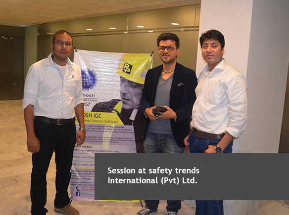 Session at Safety Trends International (Pvt.) Ltd