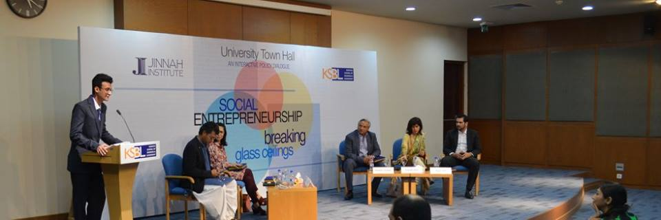 Karachi School of Business & Leadership conducted a University Town Hall on Social Entrepreneurship in Partnership with Jinnah Institute