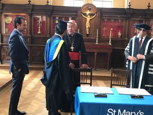 MOU signing ceremony at St. Mary