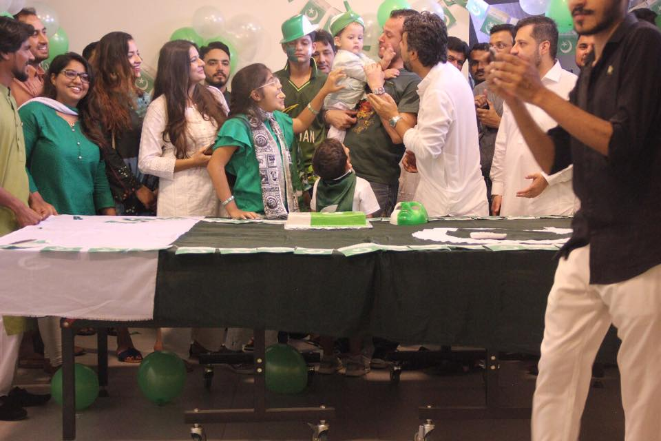 SEED family celebrating Pakistan
