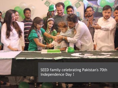 SEED family celebrating Pakistan's 70th Independence Day