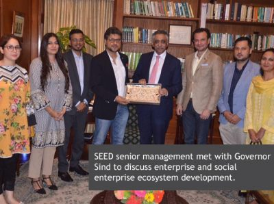 SEED senior management met with Governor Sind to discuss enterprise and social enterprise ecosystem development