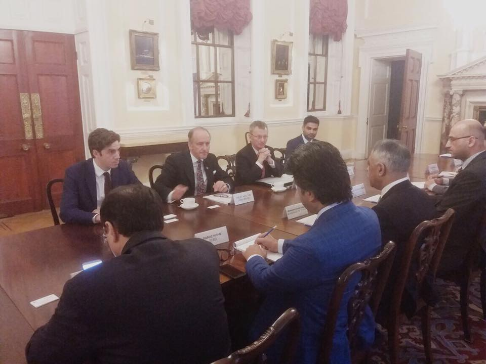 Meeting with Lord Mayor of London Mr Charles Bowman and his team looking at strengthening ??  ?? bilateral trade along with UK